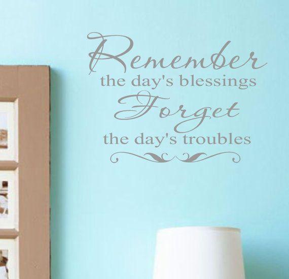 Blessings Vinyl Wall Decal Lettering Family Words Decor via Etsy