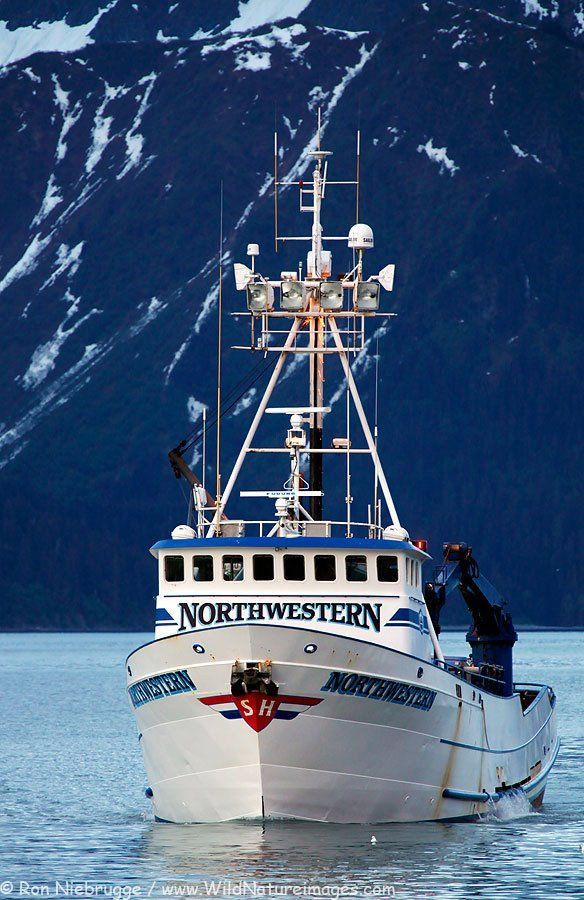 ✵ The F/V Northwestern arriving in Seward, Alaska. This is one of the crab boats from the Discovery Channel's show Deadliest Catch.