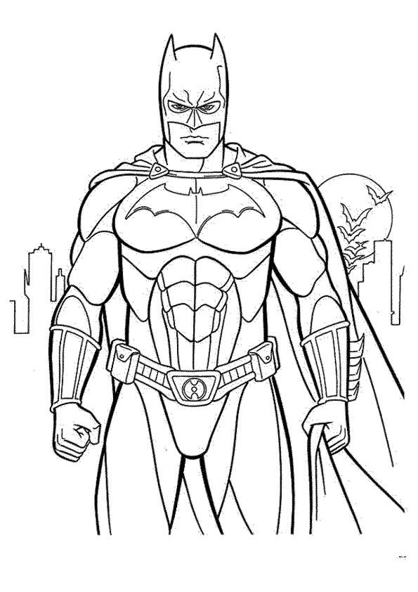 Batman Coloring Pages For Kids Superhero Coloring Pages Batman Coloring Pages Avengers Coloring Pages