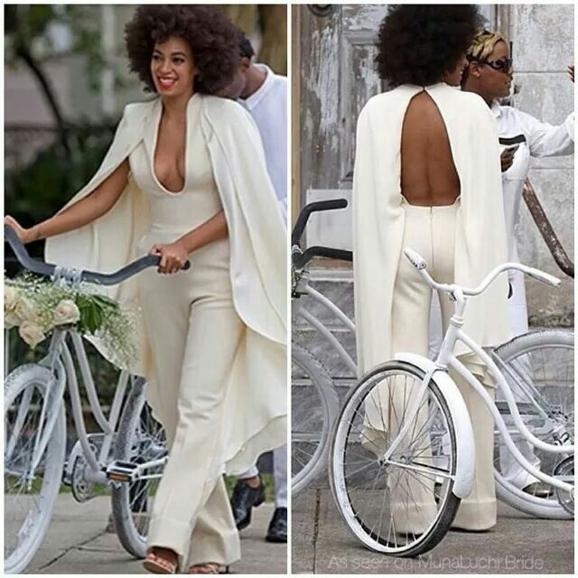 Who wears something like this on their wedding day??? Only #solange! Love it!
