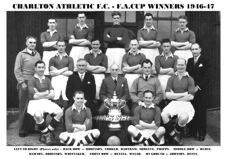 CHARLTON ATHLETIC F.C.TEAM PRINT 1947 - F.A.CUP WINNERS in Sports Memorabilia, Football Memorabilia, Prints/ Pictures | eBay!