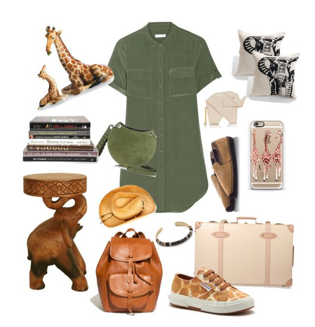 Indiana Jones••~~ by sheiscarla on Polyvore featuring polyvore, fashion, style, Equipment, Superga, Globe-Trotter, Madewell, Emilio Pucci, Kate Spade, Gas Bijoux, Casetify, KC Signatures, Franz Collection, women's clothing, women's fashion, women, female, woman, misses and juniors