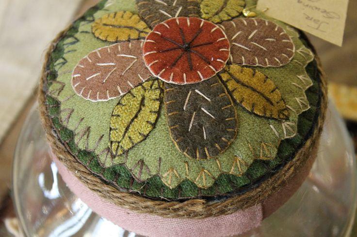 Storage jar wooly lid www.rebekahlsmith.com