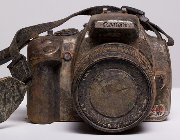 This Canon spent 3 years at the bottom of a creek, and the SanDisk memory card inside it still worked!