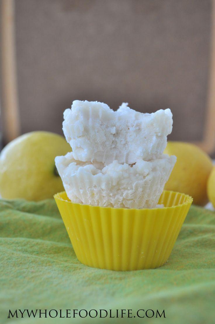 Lemon Coconut Fudge - My Whole Food Life