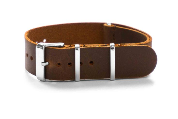 Leather NATO Strap Vintage Brown