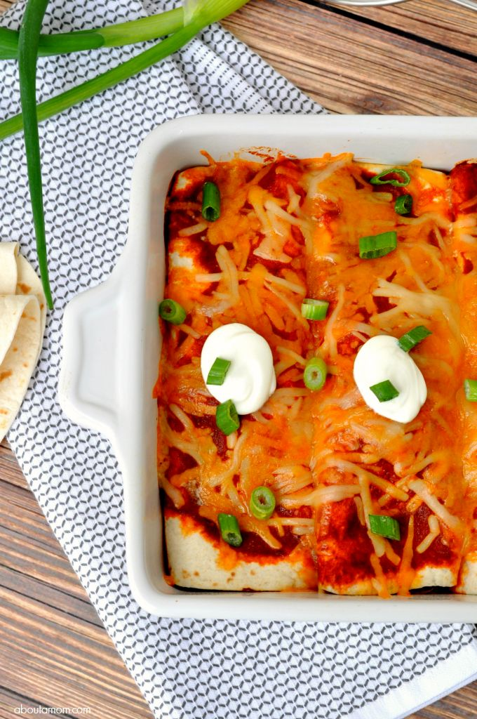 This Chicken and Black Bean Enchiladas recipe has a great south-of-the-border flavor, and comes together quickly. It's a great Mexican dish to make on a busy weeknight.