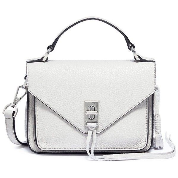 Rebecca Minkoff 'Mini Darren' leather messenger bag (830 ILS) ❤ liked on Polyvore featuring bags, messenger bags, grey, gray messenger bag, grey messenger bag, rebecca minkoff, mini leather bag and leather bags