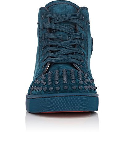 Christian Louboutin Lou Spikes Orlato Flat Suede Sneakers - Sneakers - 505108923