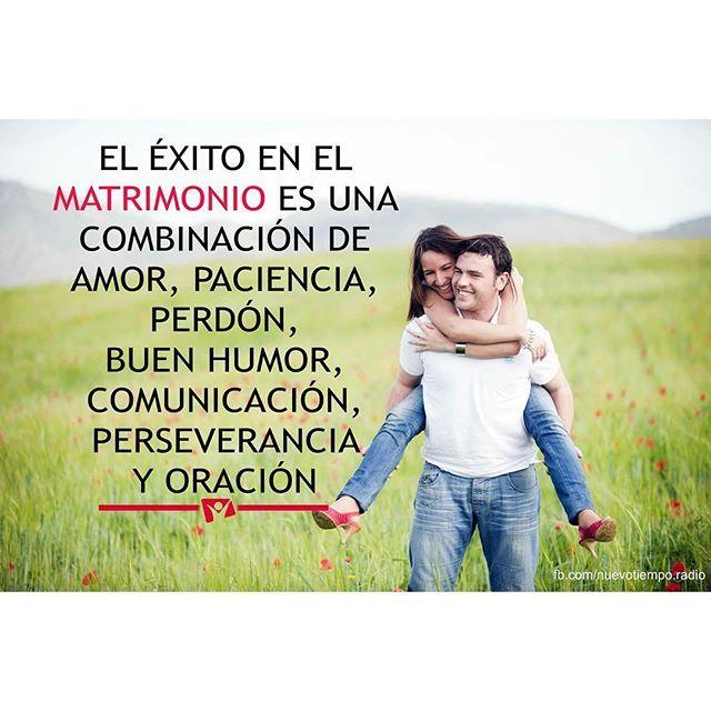 El éxito en el matrimonio es una combinación de #amor, paciencia, #perdón, buen humor, comunicación #Perseverancia  y oración. Via => http://JoseCFernandez.com