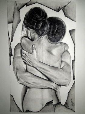"""Saatchi+Online+Artist+Surajit+Chatterjee;+Drawing,+""""Love""""+#art"""