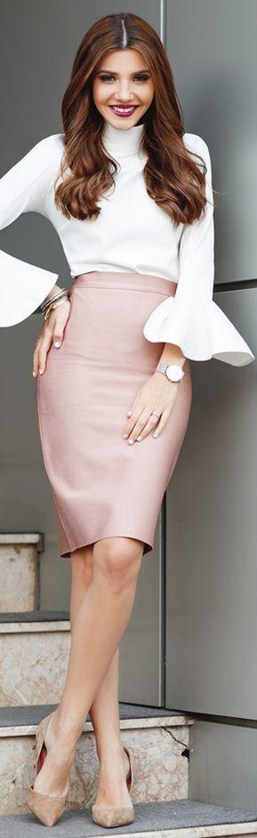 Chicwish bell sleeve top, Mybandagedress powder pink skirt, Kurt Geiger Beaumond stilettos, Kapten & Son watch Concept 15 Emma Zebra bag and fur bag bug || The Mysterious Girl #chicwish