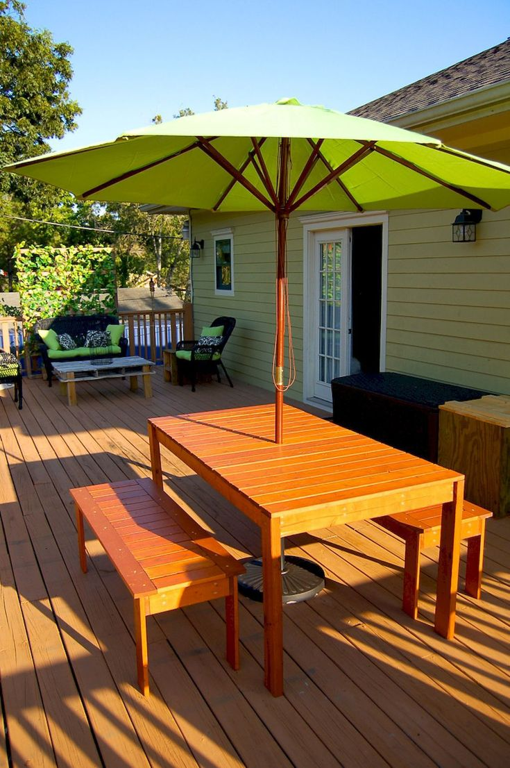 55 Rustic Outdoor Patio Table Design Ideas DIY On A Budget