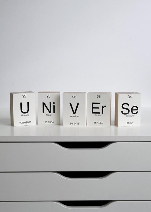 Image of Periodic Table - Wooden Blocks - U, Ni, V, Er, Se