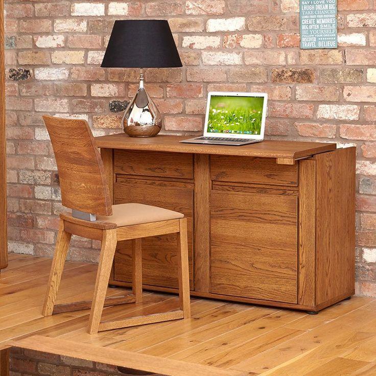 Olten - Hideway Storage Oil Oak Desk/Sideboard -  - Sideboard - Baumhaus - Space & Shape - 1