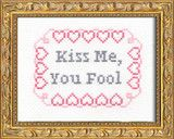 PDF: Kiss Me, You Fool | Subversive Cross Stitch