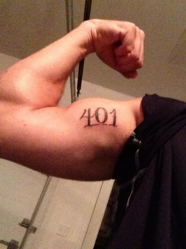 This tattoo of the state's only area code.