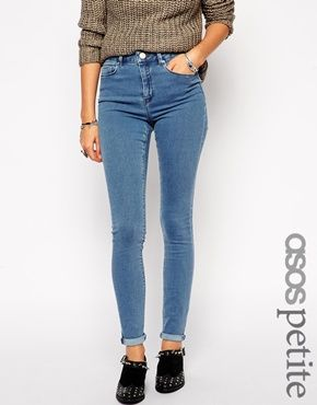 ASOS PETITE Ridley High Waist Ultra Skinny Jeans In Forever Wash - 42,65€