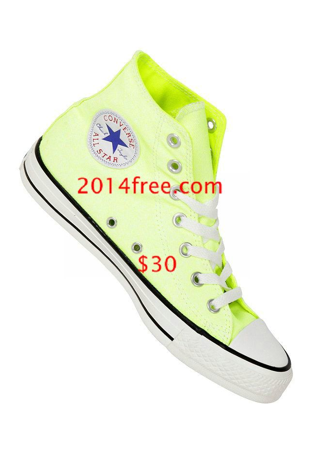 Converse Shoes Washed Neon Yellow Chuck Taylor All Star Classic High Top