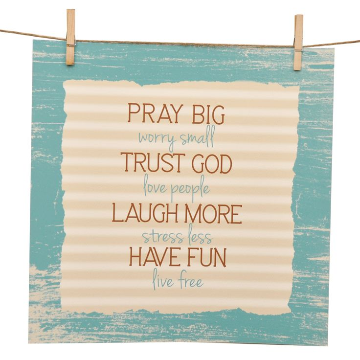 Pray Big, Trust God Giclee' Watercolor Print
