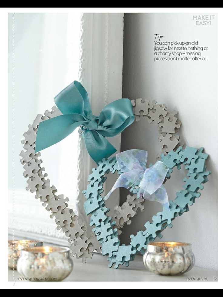Jigsaw heart frame