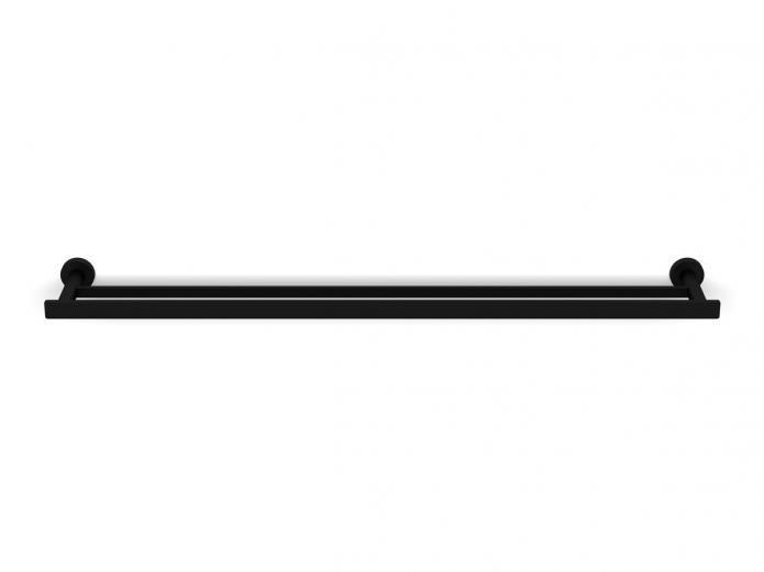 Milli Axon 800 Double Towel Rail Black