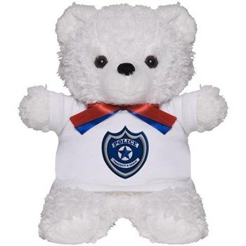 Police Badge Teddy Bear from cafepress store: AG Painted Brush T-Shirts. #police #bear #toy