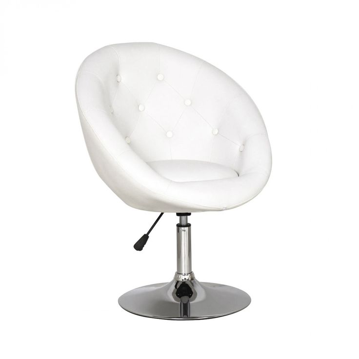 Modern Round Tufted Swivel Vanity Chair Homey Ideas