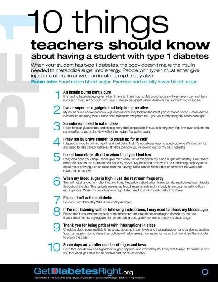 Jdrf Palmetto Chapter- We know it can be a stressful time when your child with Type One heads back to school. Here are some pointers for teachers to know.