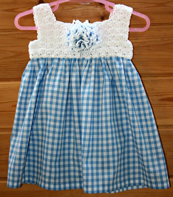 Adorable crochet baby dress baby clothes by crochetyknitsnbits, £27.99