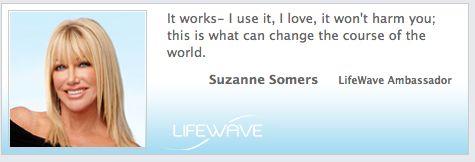 #LifeWave Ambassador, Suzanne Somers!