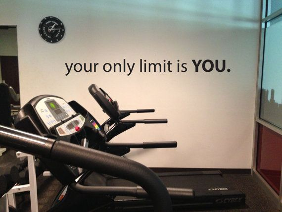Locker Room Decor, Gym Wall Decal, your only limit is YOU.