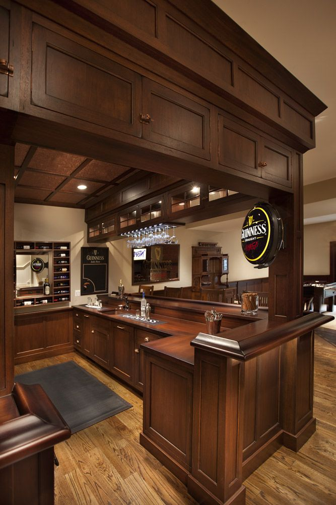 Custom Wood Bar Countertops in a space designed by Roger