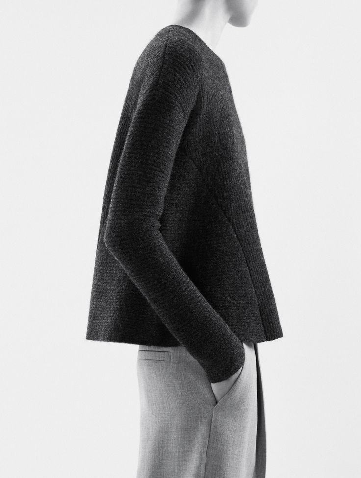 Minimalist Knitwear with clean lines & structured silhouette; chic simplicity // COS