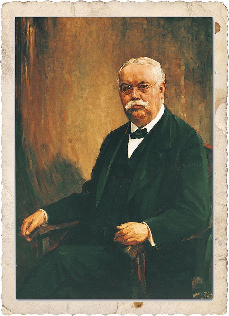 Dr. August Oetker, Gemälde von P.E. Gabel, 1912.