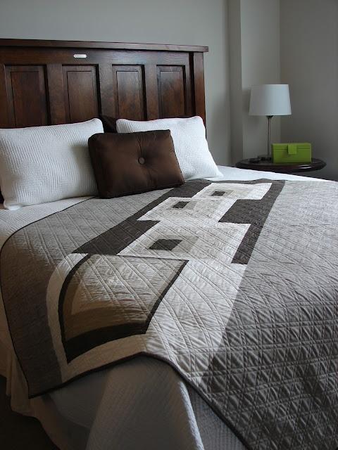 modern grey quilt