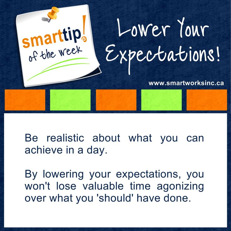 Agonizing over all the things you don't get done in a day? Maybe you need to shift your thinking a little. Check out this week's Tip of The Week!  Lower Your Expectations! www.smartworksinc.ca