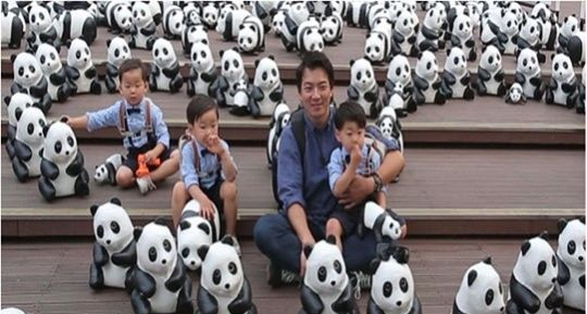 #SongIlKook and #SongTriplets at Namshan Tower with #1600Pandas
