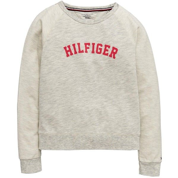 Tommy Hilfiger Lounge Sweat Top ($52) ❤ liked on Polyvore featuring tops, hoodies, sweatshirts, sweaters, tommy hilfiger sweatshirt, tommy hilfiger and tommy hilfiger top