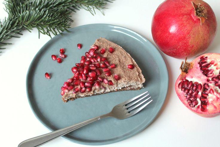 Vegane Granatapfel-Torte