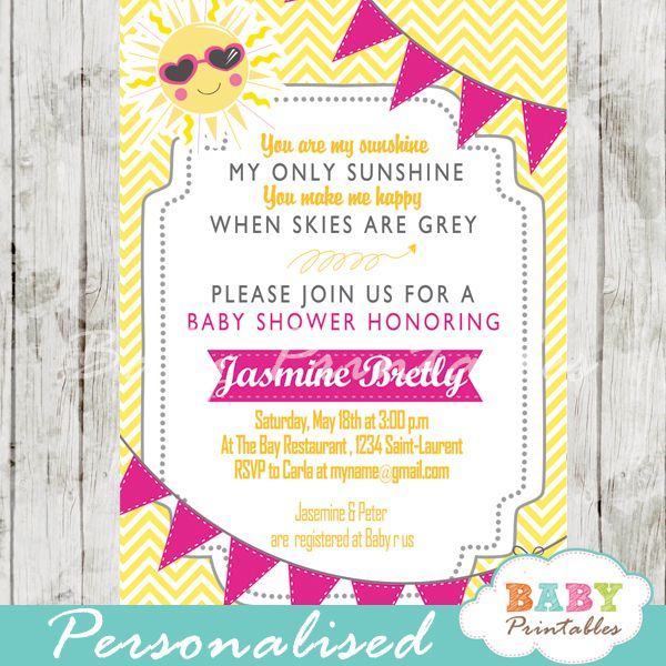 17 Best Images About You Are My Sunshine Baby Shower Theme