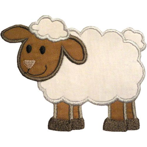 applique patterns free | Lamb Applique Design