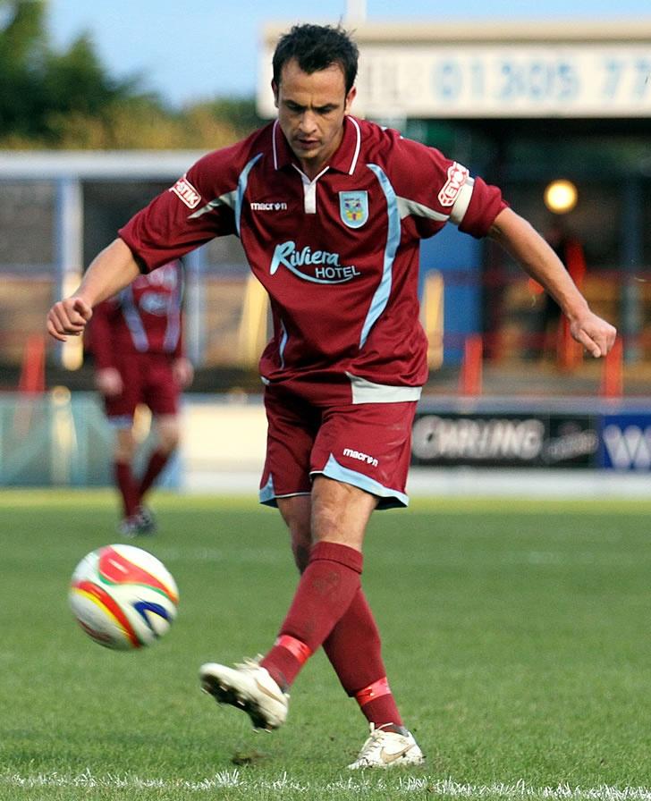 Scott Walker in action for Weymouth FC