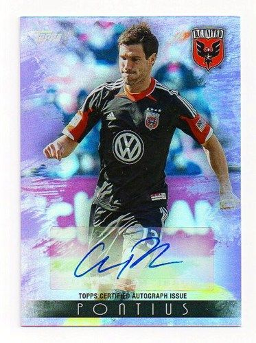 CHRIS PONTIUS 2013 TOPPS MLS SOCCER SP PURPLE AUTO /50 autograph D.C. united