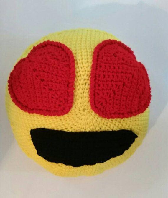 Plush pillow Decorative pillows heart eyes sofa pillows emoji