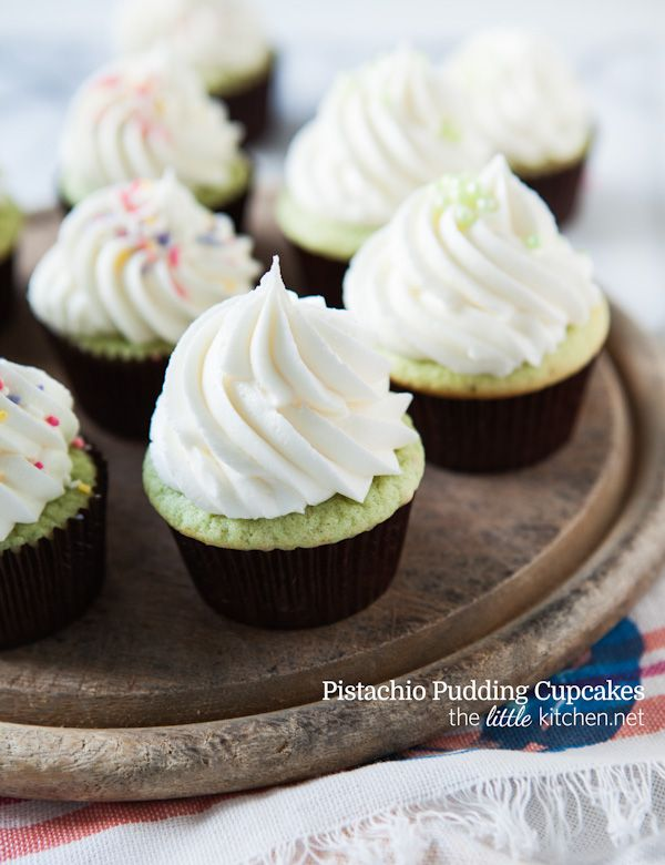Pistachio Pudding cupcakes by The Little Kitchen