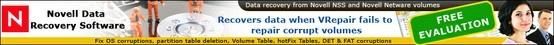 Novell NSS es un software distinguido y orientado a obtener resultados, el cual asegura una recuperación de datos completa de volúmenes corruptos o dañados de discos duros, o medios de almacenamiento de datos con Sistemas de Archivo, basados en sistemas operativos instalados. El Sistema de Archivo Novell NSS a veces sufre de corrupción debido a las razones siguientes: