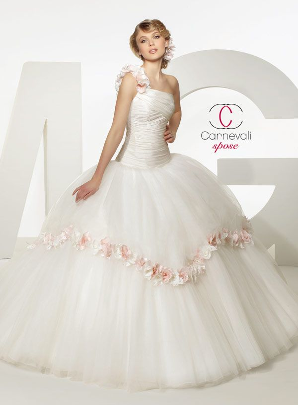 Cinderella wedding dress with pink roses disney princess for Rose pink wedding dress
