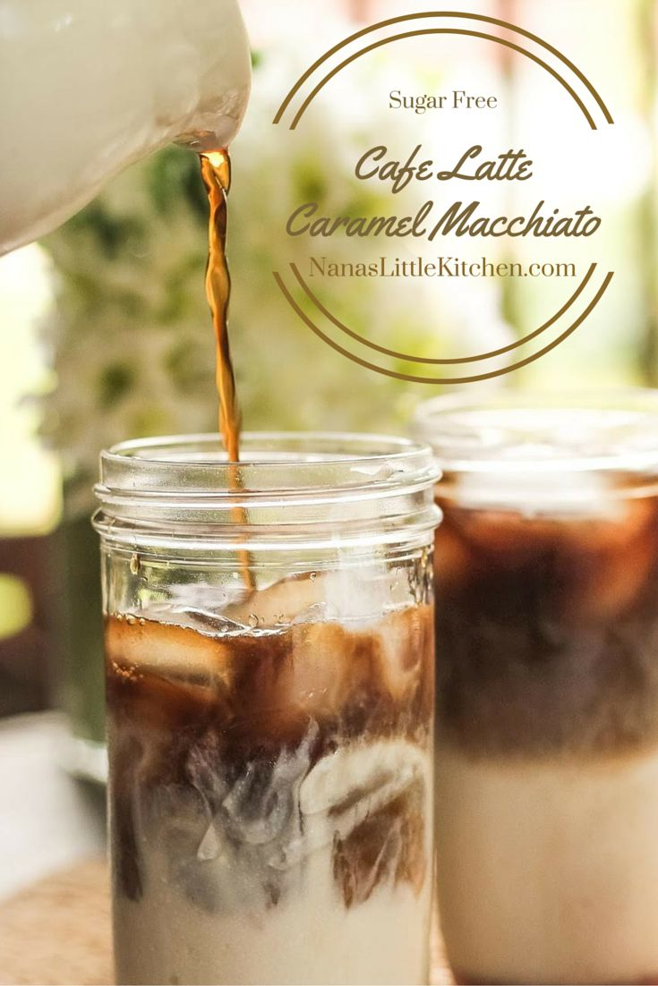 Cafe Latte Caramel Macchiato-Nanaslittlekitchen.com   Finally a sugar free alternative coffee drink so good that you won't miss the carbs one bit.