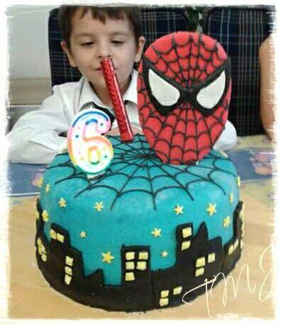 Pókember csokis szülinapi torta/ Spiderman chocolate birthdaycake
